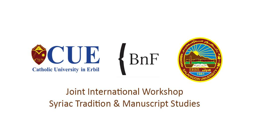 Joint International Workshop on Syriac Tradition & Manuscript Studies