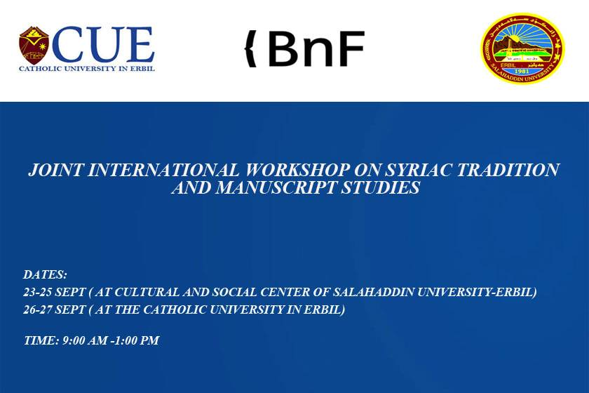 Event: Workshop on Syriac Tradition & Manuscript Studies